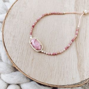 Kendra Scott Elaina Beaded Bracelet Pink Rhodonite
